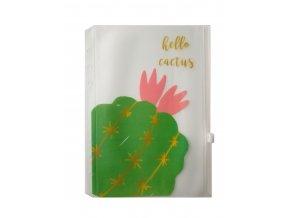 úložná kapsička do diáře kaktus